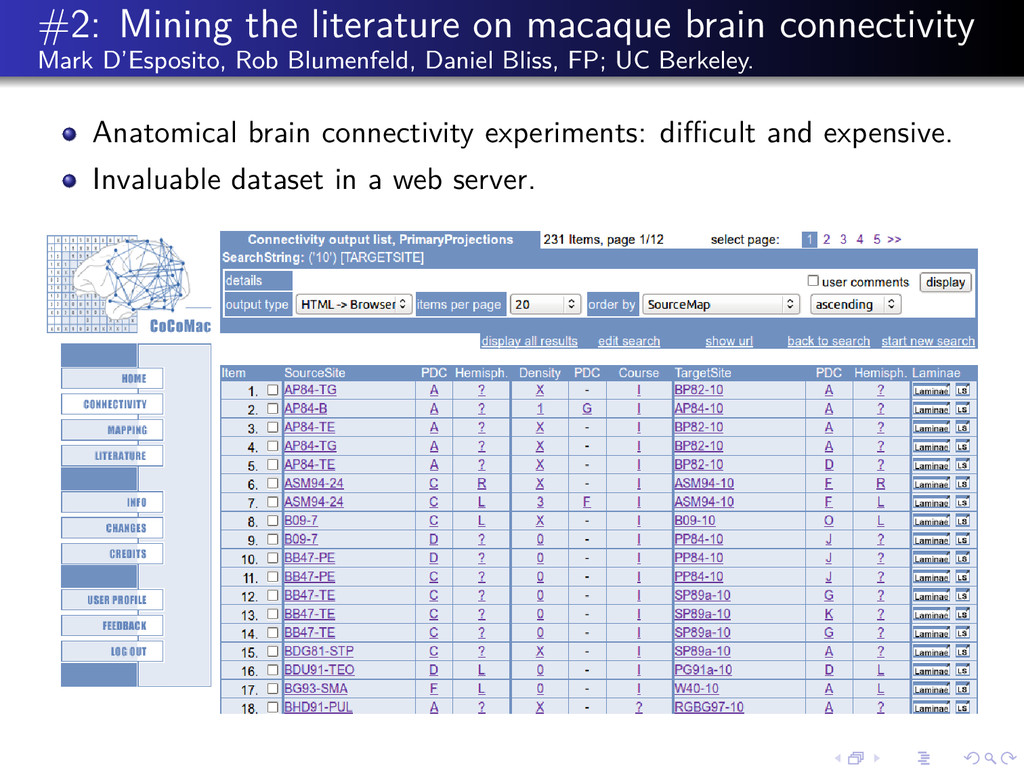 #2: Mining the literature on macaque brain conn...
