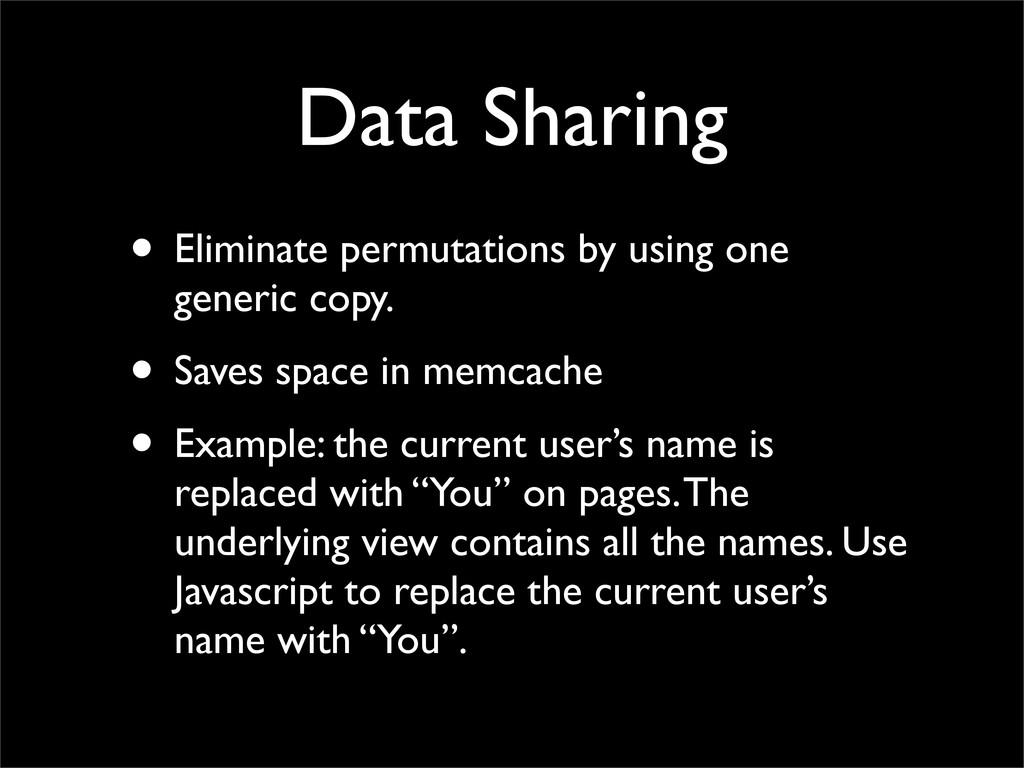 Data Sharing • Eliminate permutations by using ...