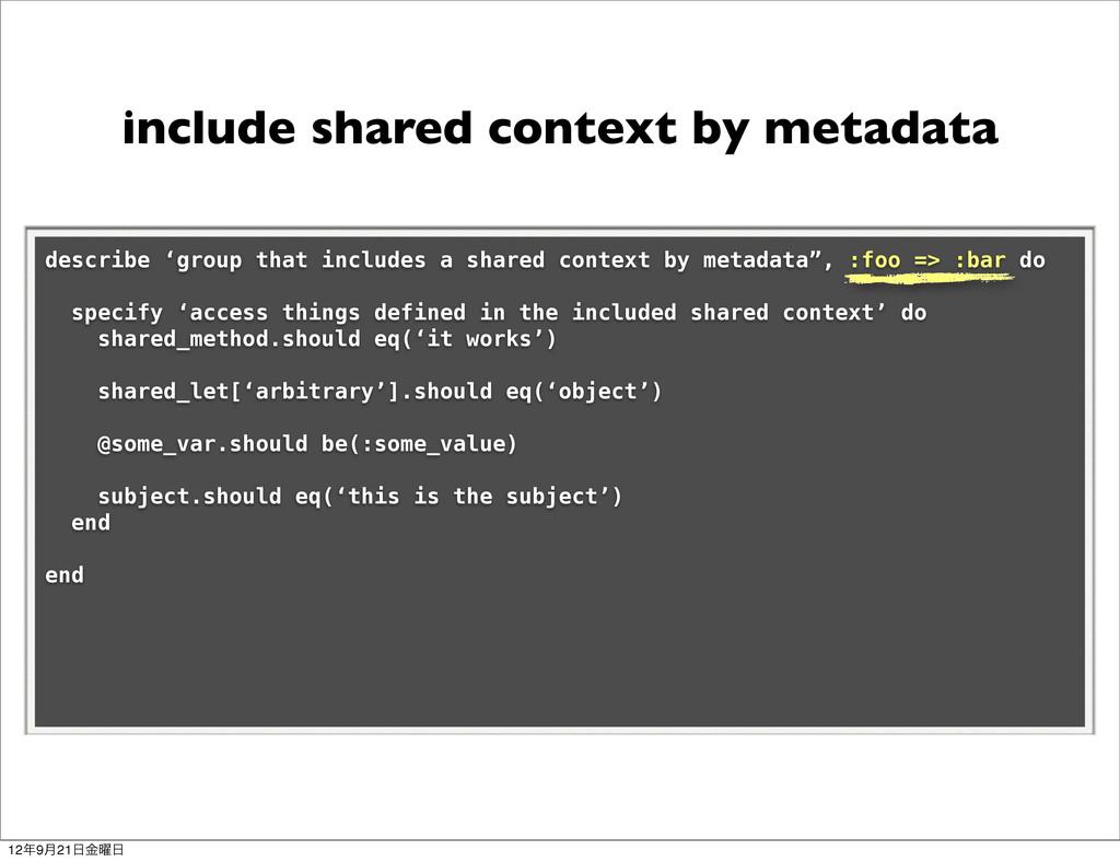 include shared context by metadata describe 'gr...