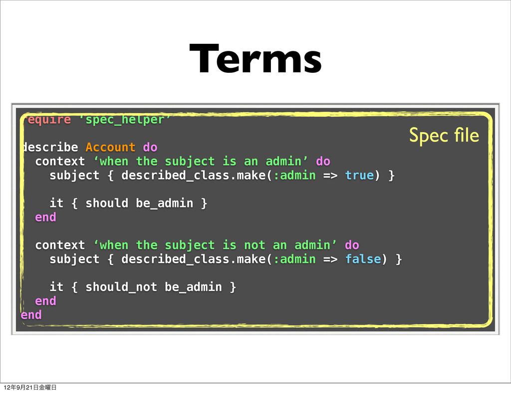 Terms require 'spec_helper' describe Account do...