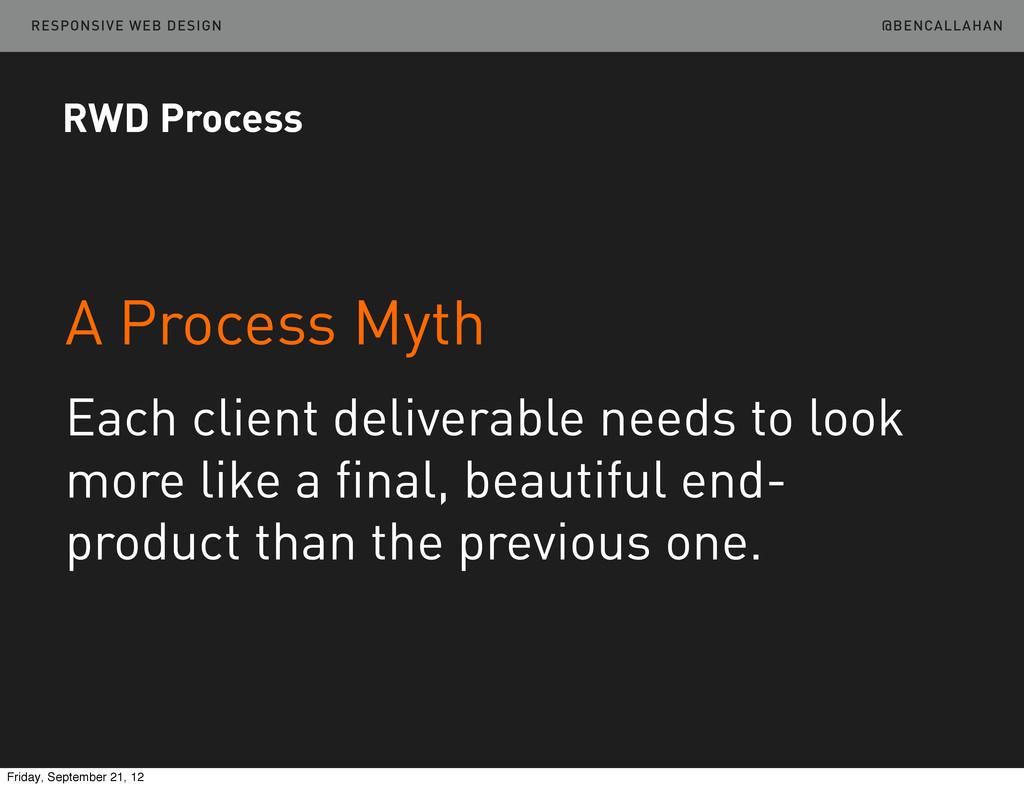 @BENCALLAHAN RESPONSIVE WEB DESIGN A Process My...
