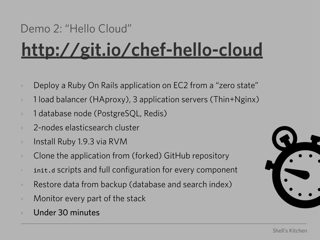 "Shell's Kitchen Demo 2: ""Hello Cloud"" http://gi..."