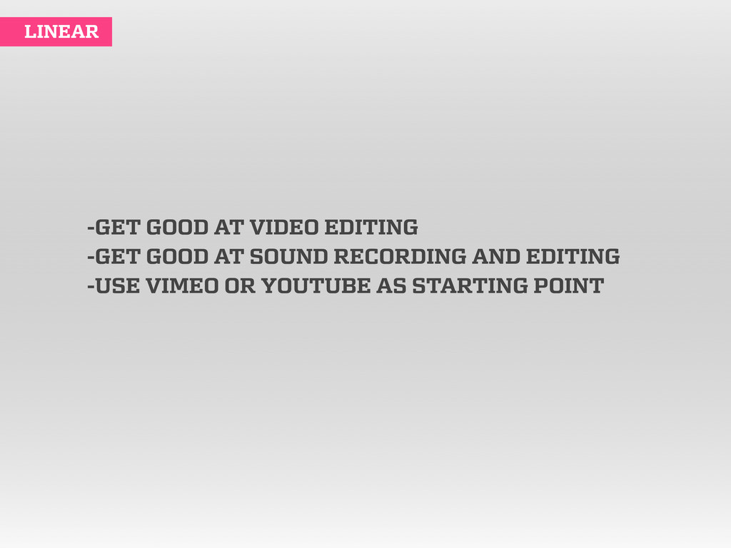 -GET GOOD AT VIDEO EDITING -GET GOOD AT SOUND R...