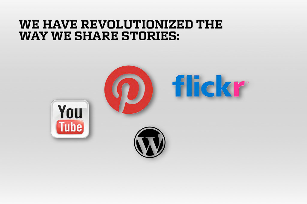 WE HAVE REVOLUTIONIZED THE WAY WE SHARE STORIES: