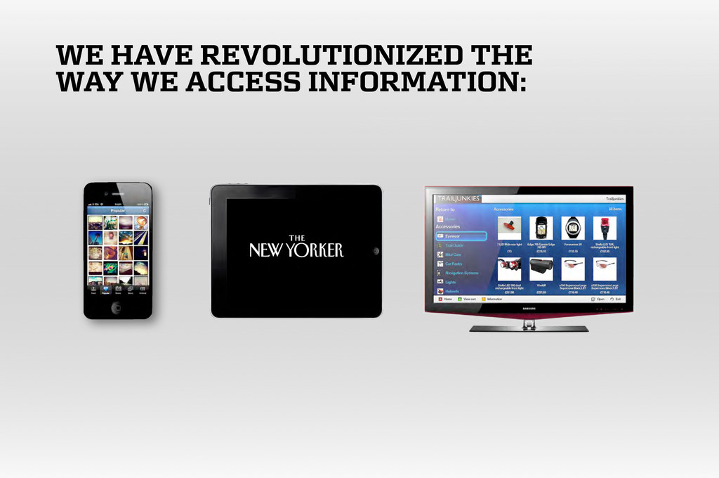 WE HAVE REVOLUTIONIZED THE WAY WE ACCESS INFORM...