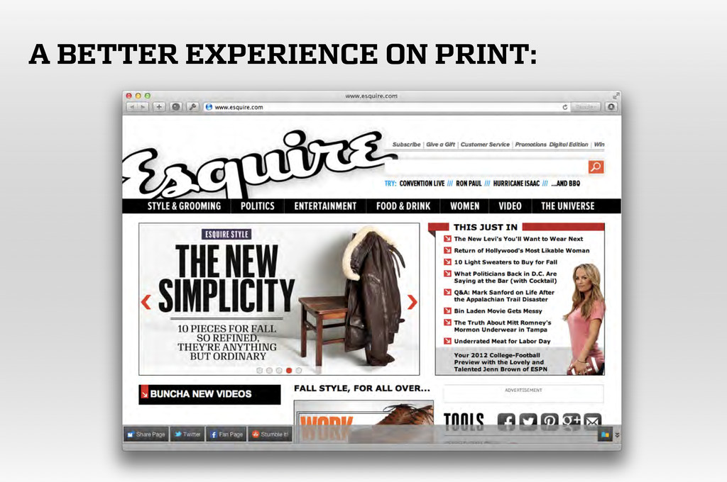 A BETTER EXPERIENCE ON PRINT: