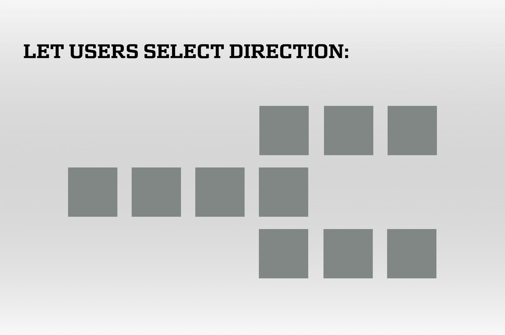 LET USERS SELECT DIRECTION: