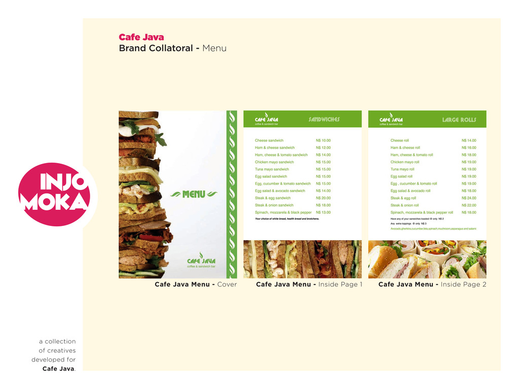 a collection of creatives developed for Cafe Ja...