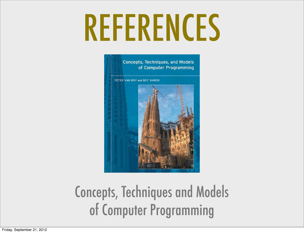 REFERENCES Concepts, Techniques and Models of C...