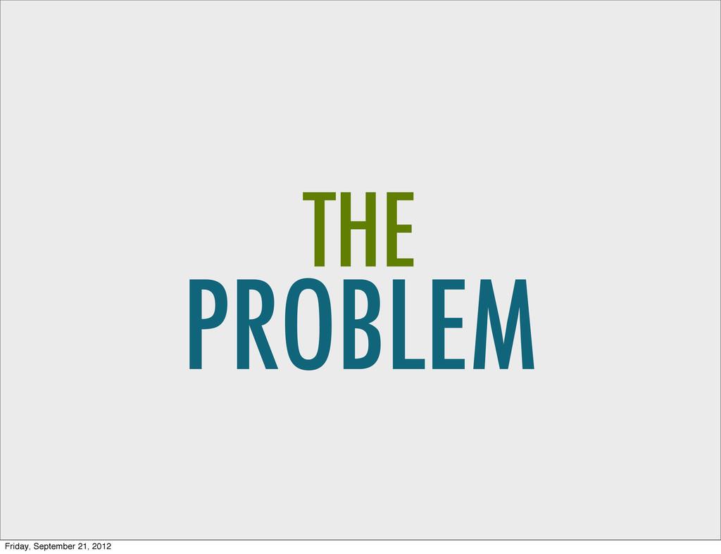 PROBLEM THE Friday, September 21, 2012