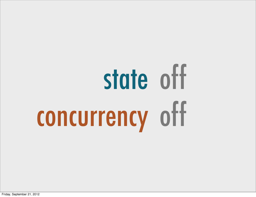 state concurrency off off Friday, September 21,...