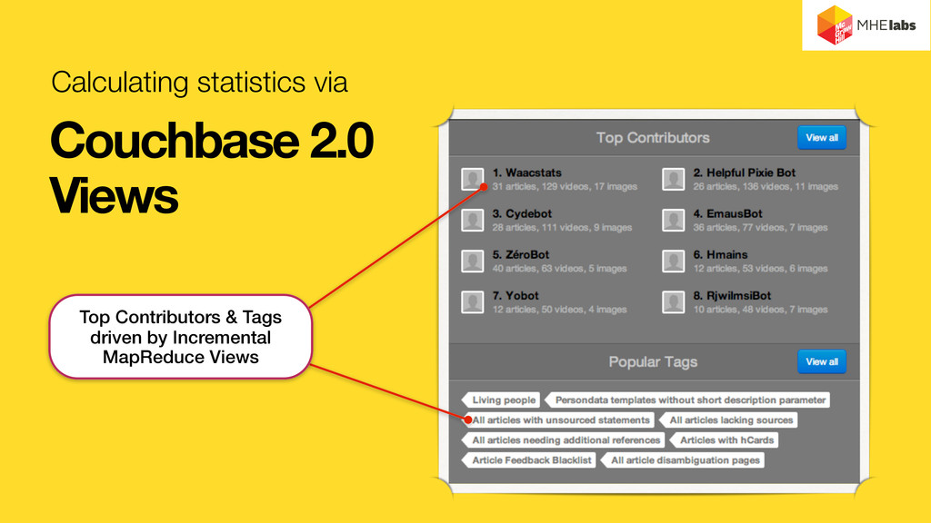 Calculating statistics via Couchbase 2.0 Views ...