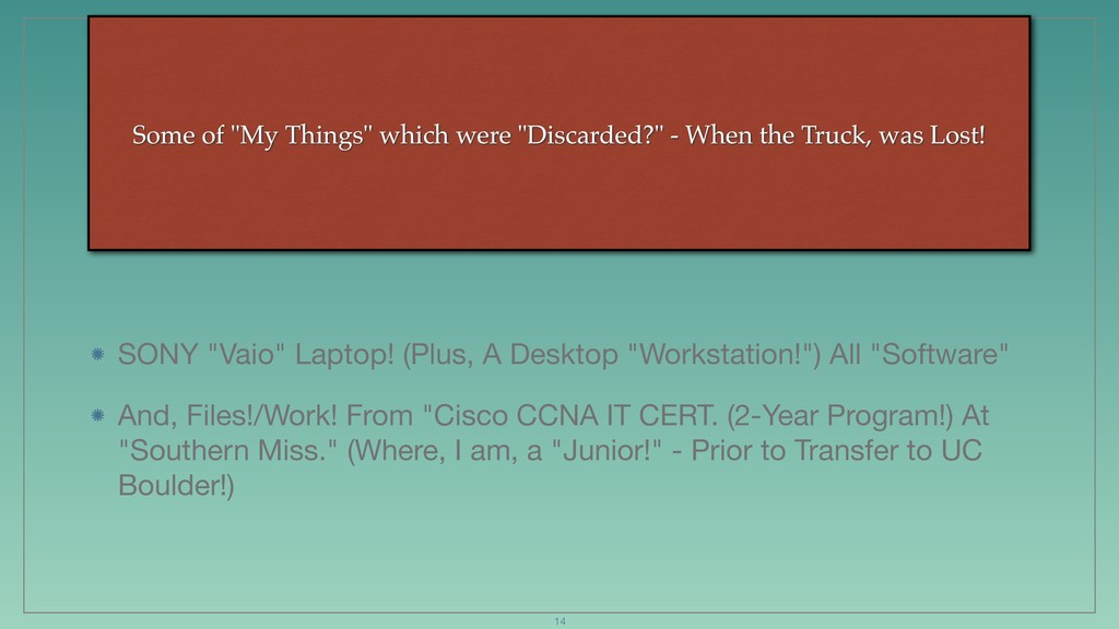 """Some of """"My Things"""" which were """"Discarded?"""" - W..."""