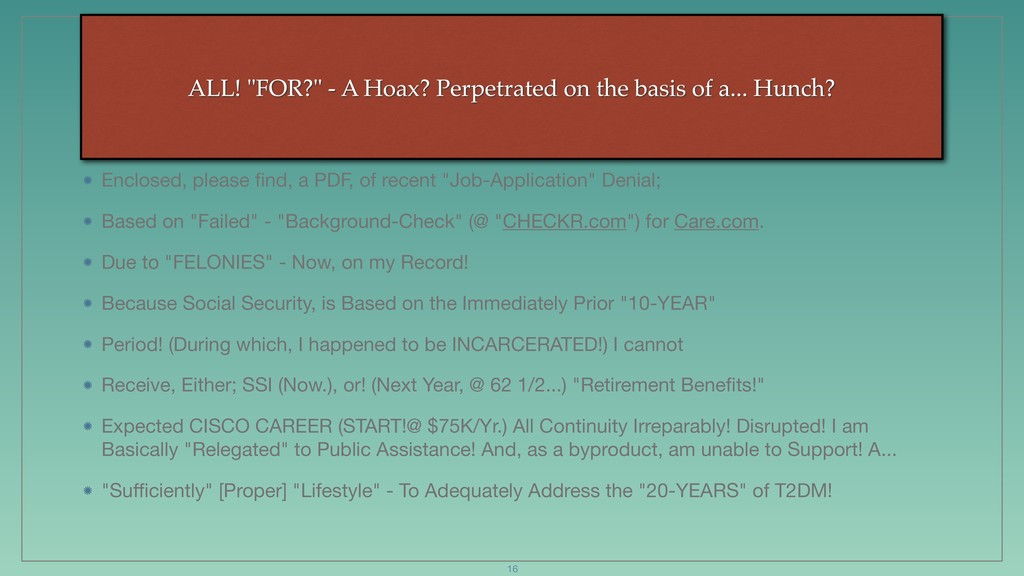 """ALL! """"FOR?"""" - A Hoax? Perpetrated on the basis ..."""