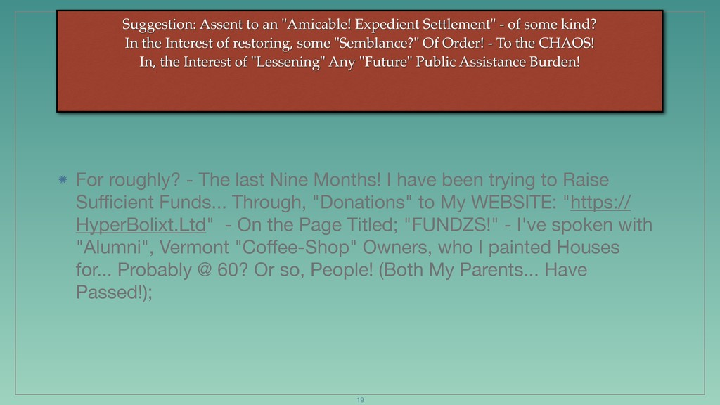 """Suggestion: Assent to an """"Amicable! Expedient S..."""