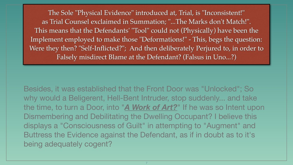 """The Sole """"Physical Evidence"""" introduced at, Tri..."""