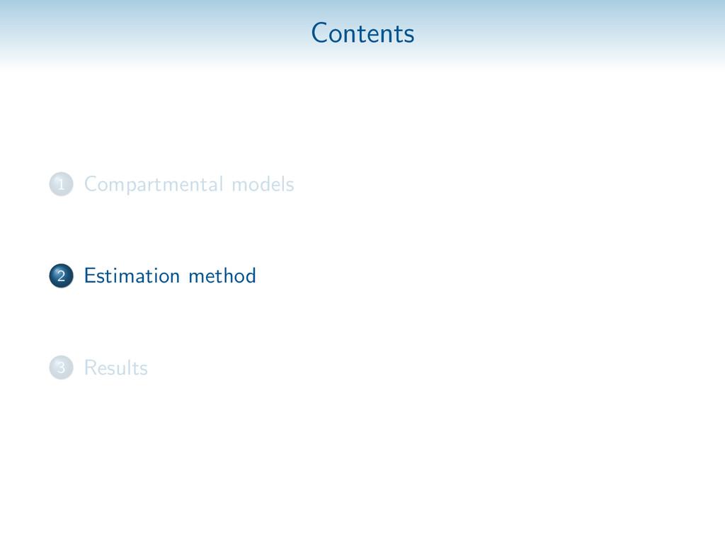 Contents 1 Compartmental models 2 Estimation me...