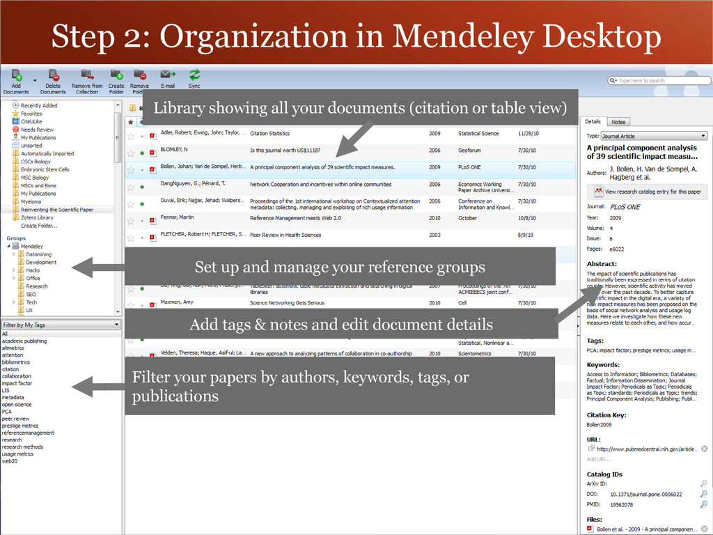 Set up and manage your reference groups Add tag...