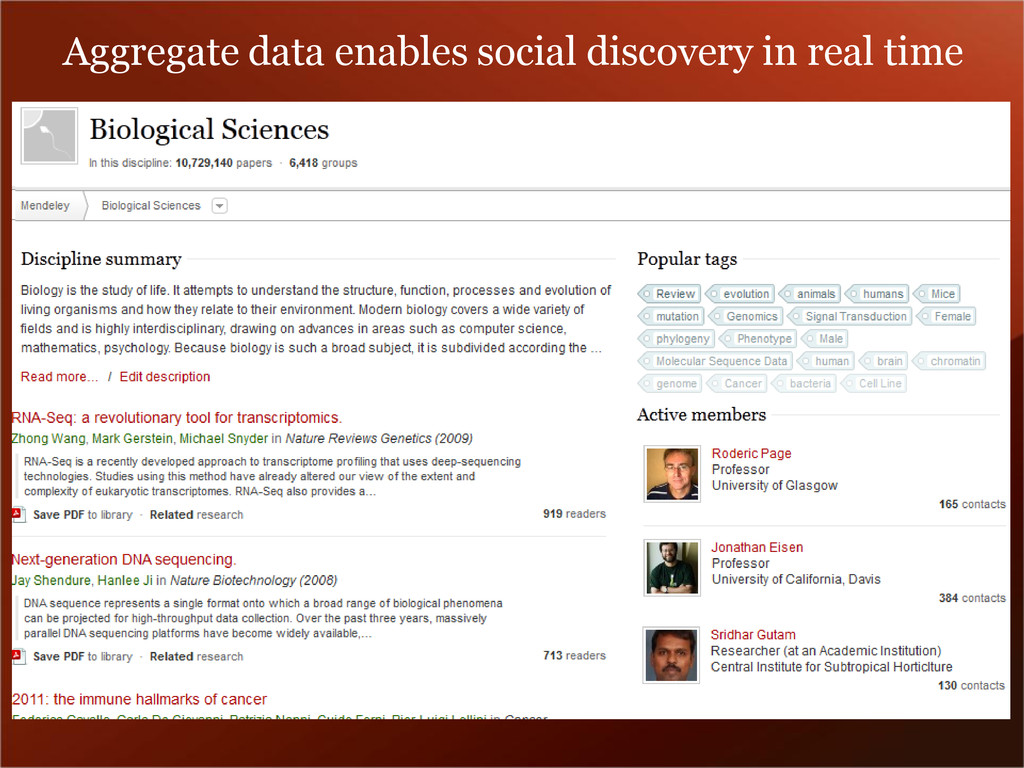 Aggregate data enables social discovery in real...