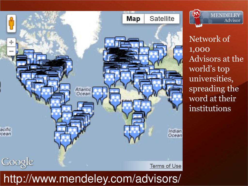 Network of 1,000 Advisors at the world's top un...