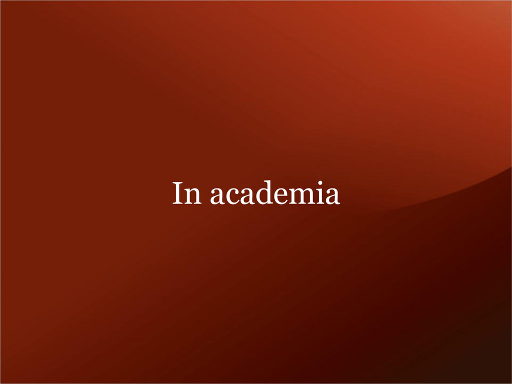 In academia