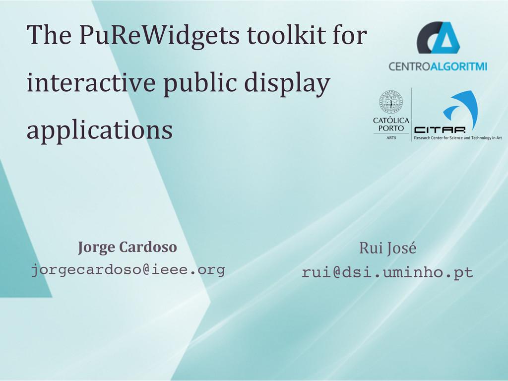 The PuReWidgets toolkit for  intera...