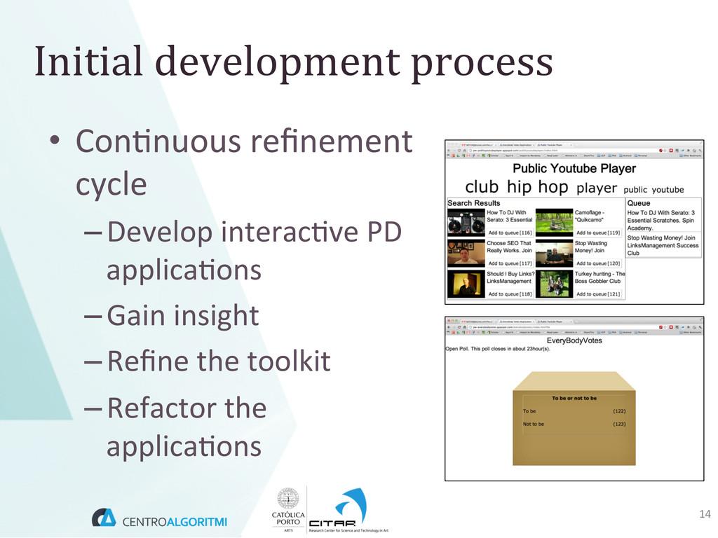 • Con(nuous refinement  cycle  –Devel...