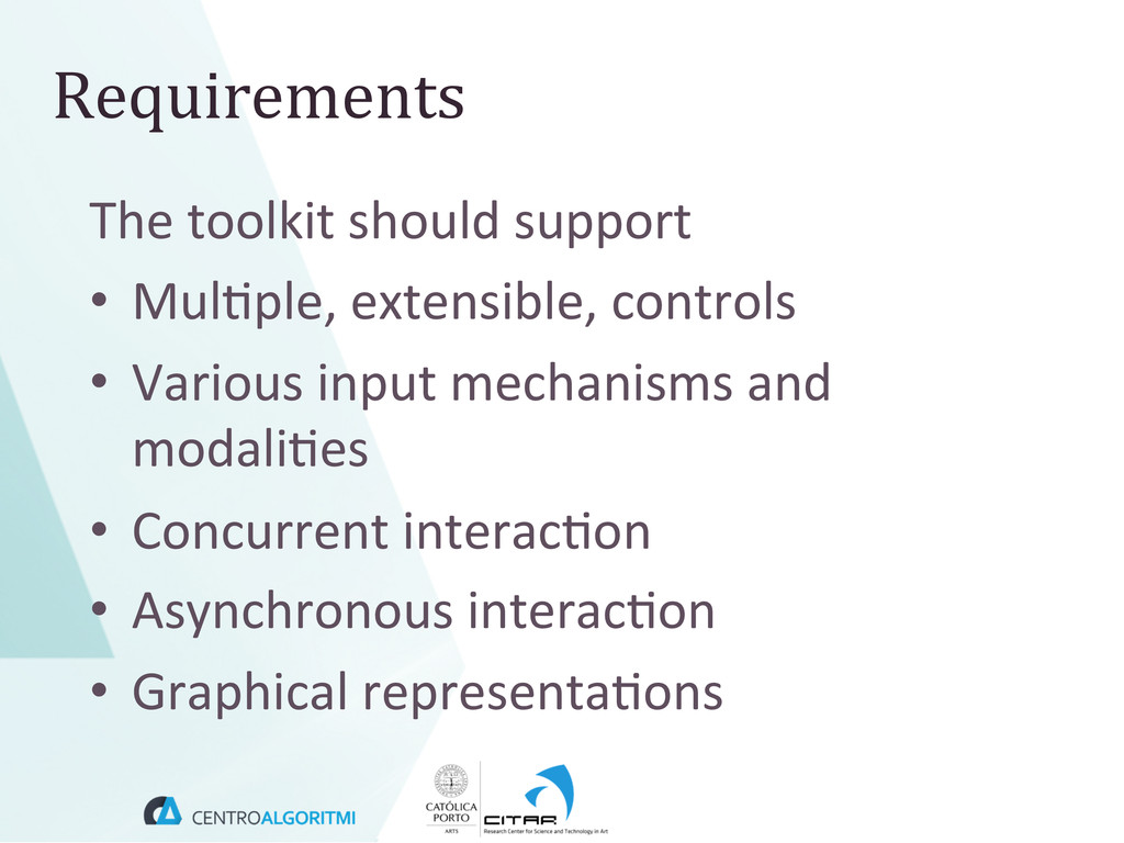 The toolkit should support  • Mul(...