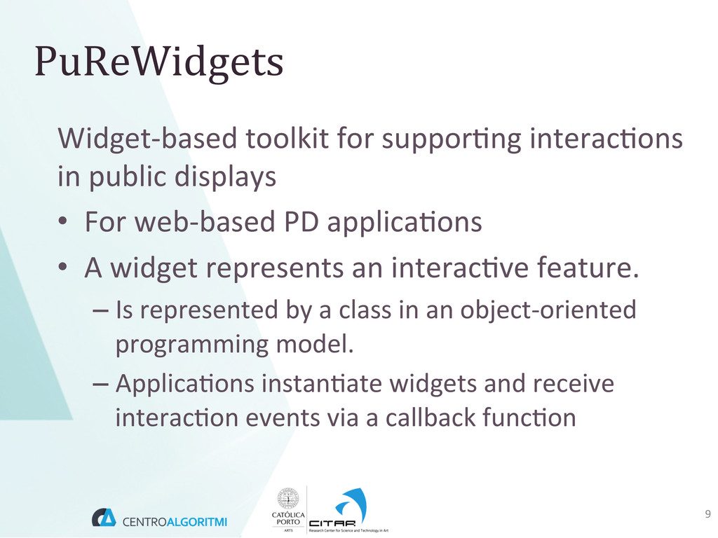 Widget-‐based toolkit for suppor(ng...