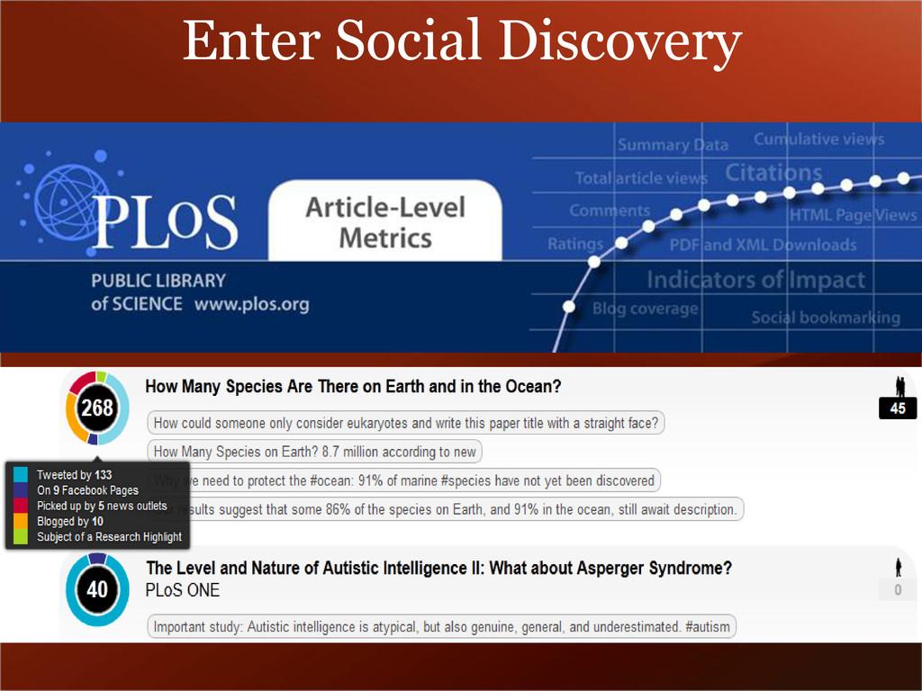 Enter Social Discovery