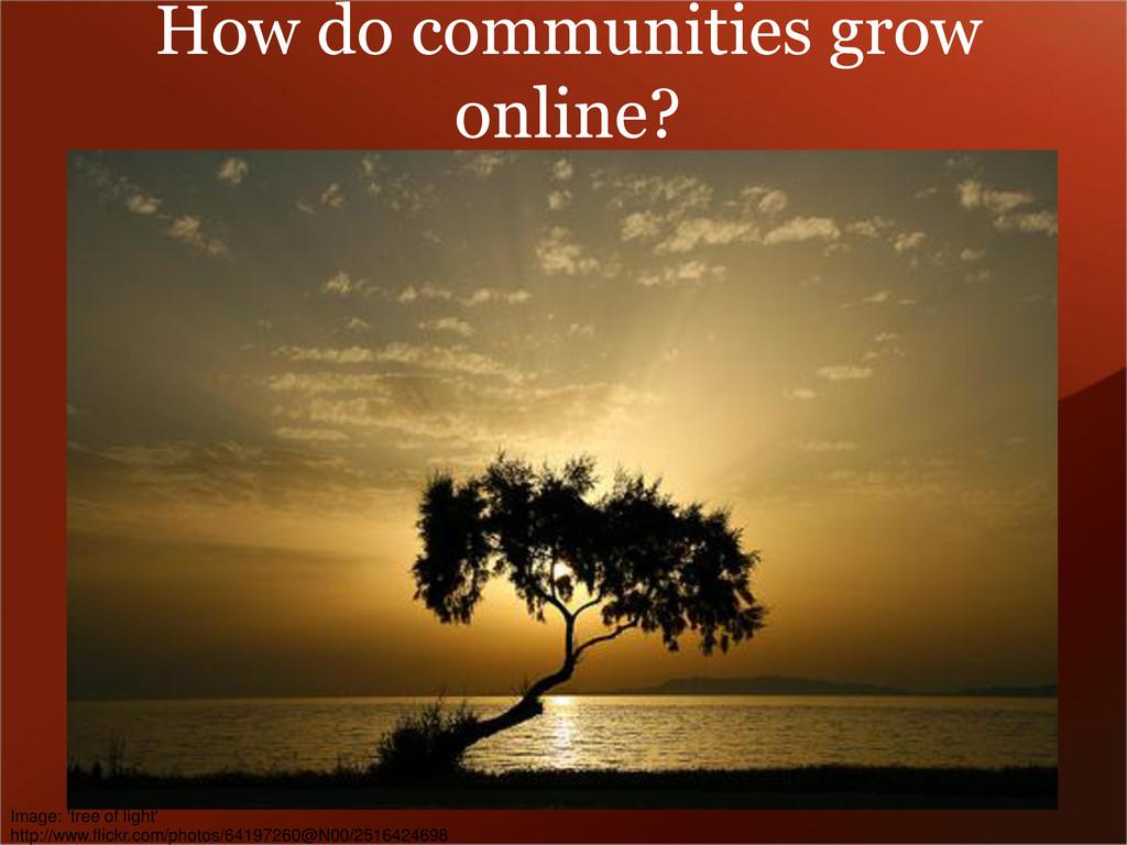 How do communities grow online? Image: 'tree of...