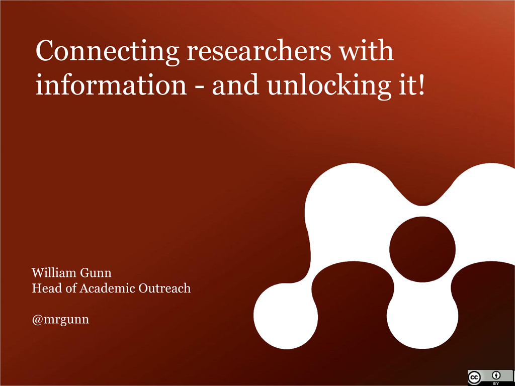 Connecting researchers with information - and u...