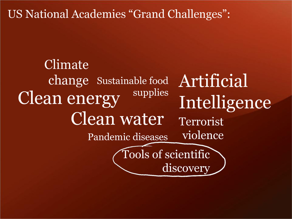 Tools of scientific discovery Clean energy Clea...
