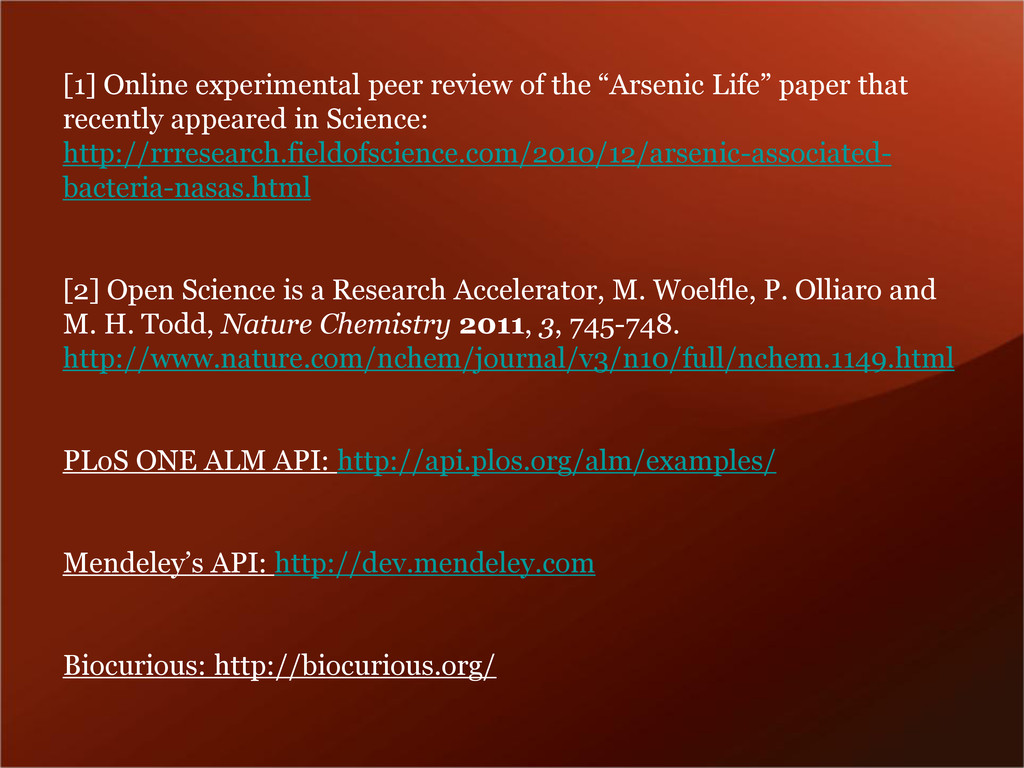 "[1] Online experimental peer review of the ""Ars..."