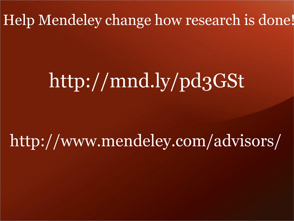 http://mnd.ly/pd3GSt http://www.mendeley.com/ad...