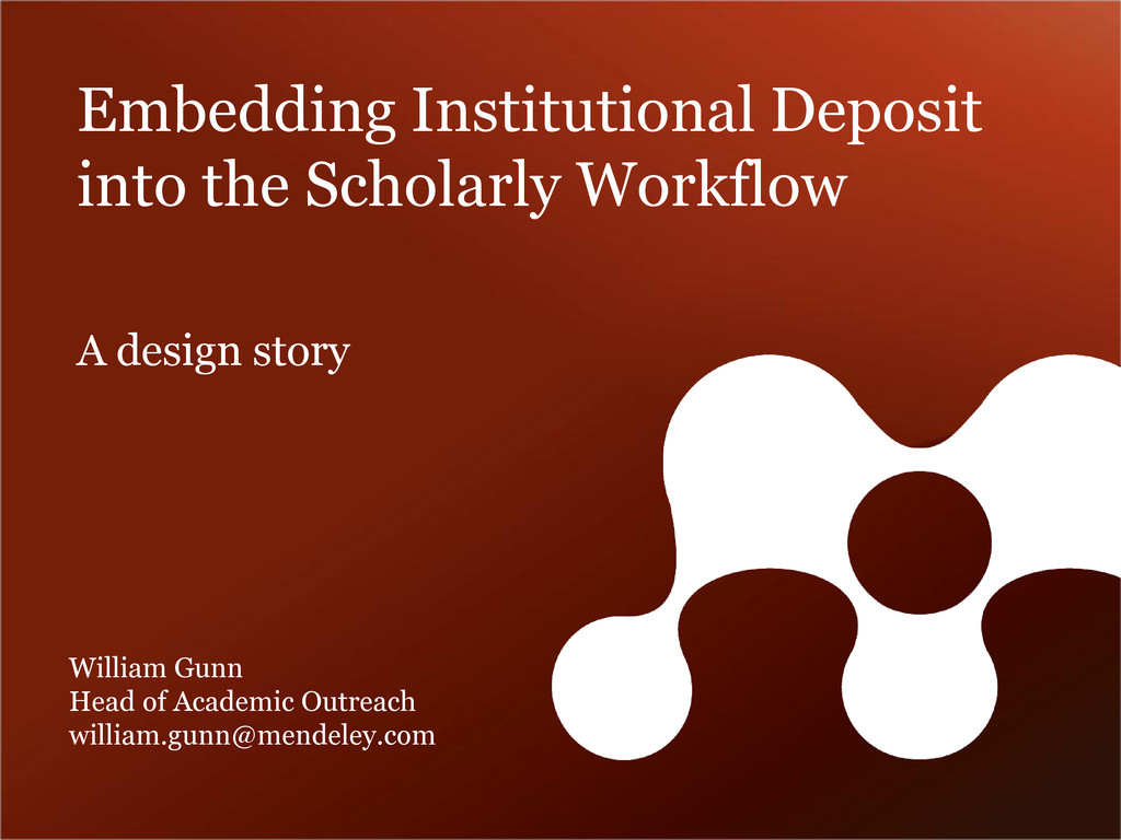 Embedding Institutional Deposit into the Schola...