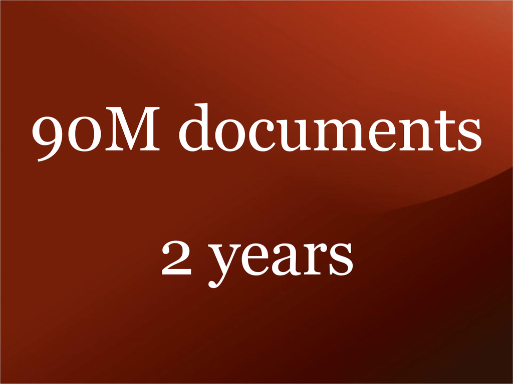 90M documents 2 years