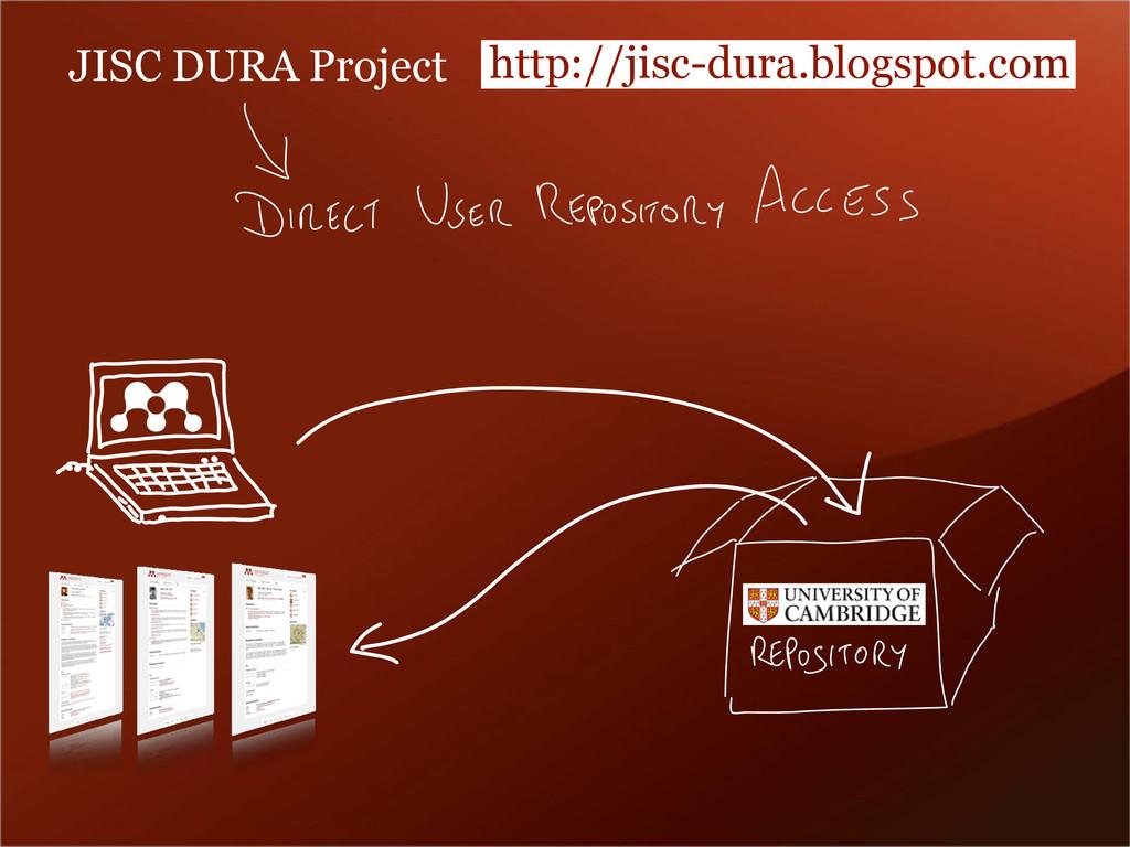 JISC DURA Project http://jisc-dura.blogspot.com