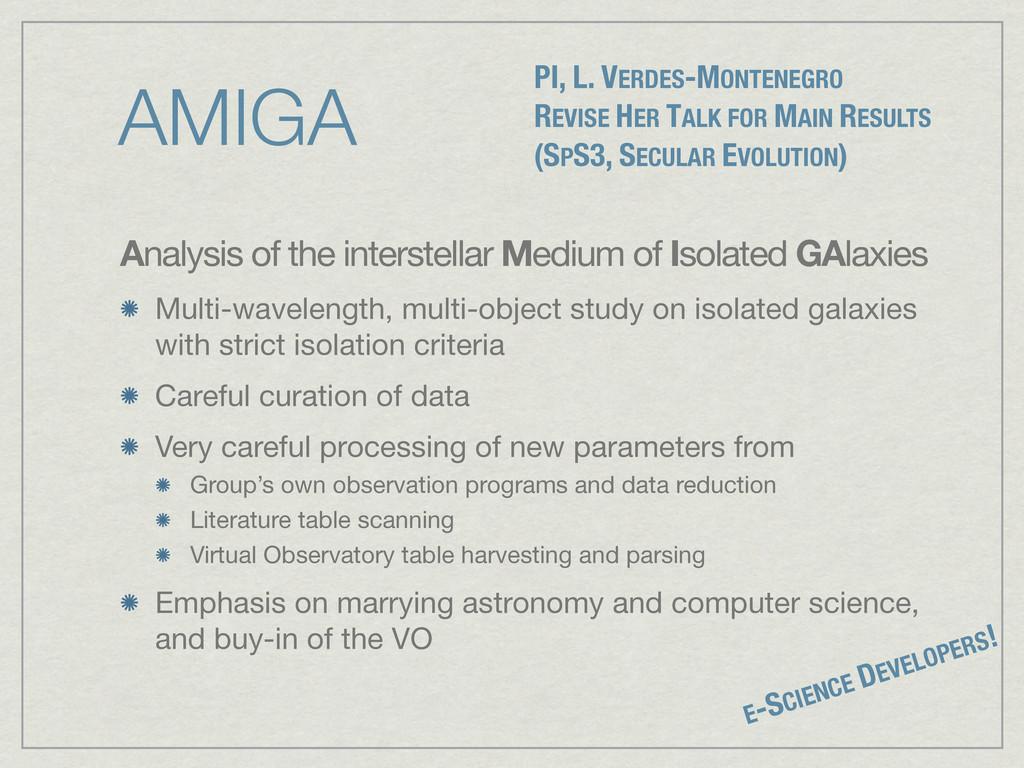 AMIGA Analysis of the interstellar Medium of Is...