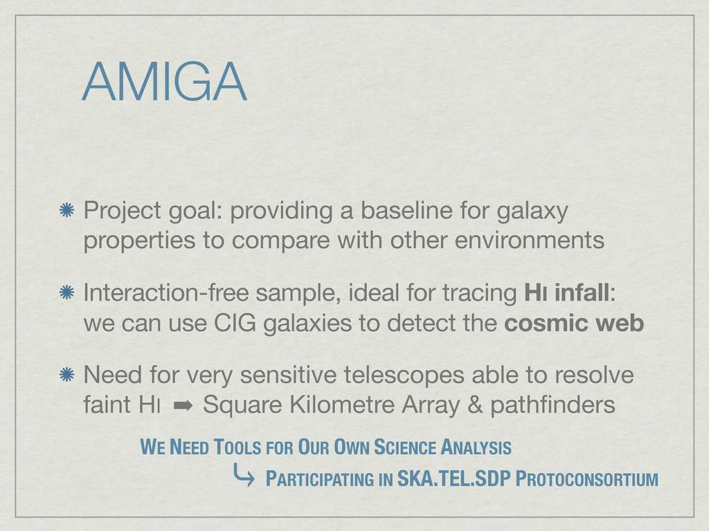 AMIGA Project goal: providing a baseline for ga...