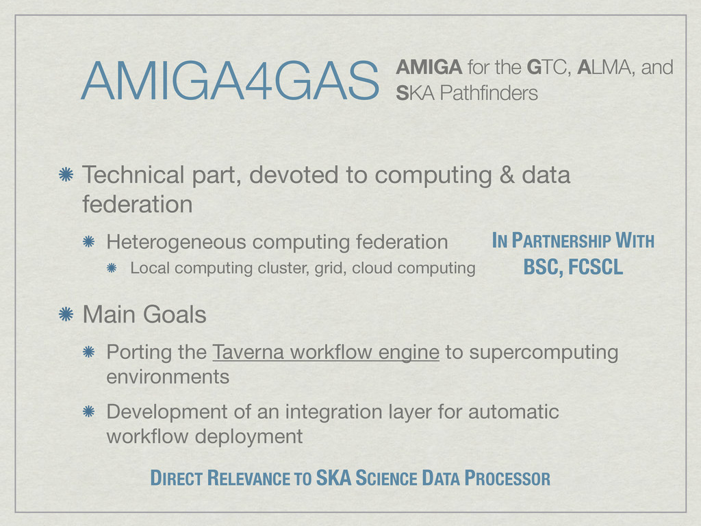 AMIGA4GAS Technical part, devoted to computing ...