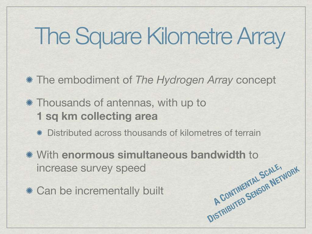 The Square Kilometre Array The embodiment of Th...