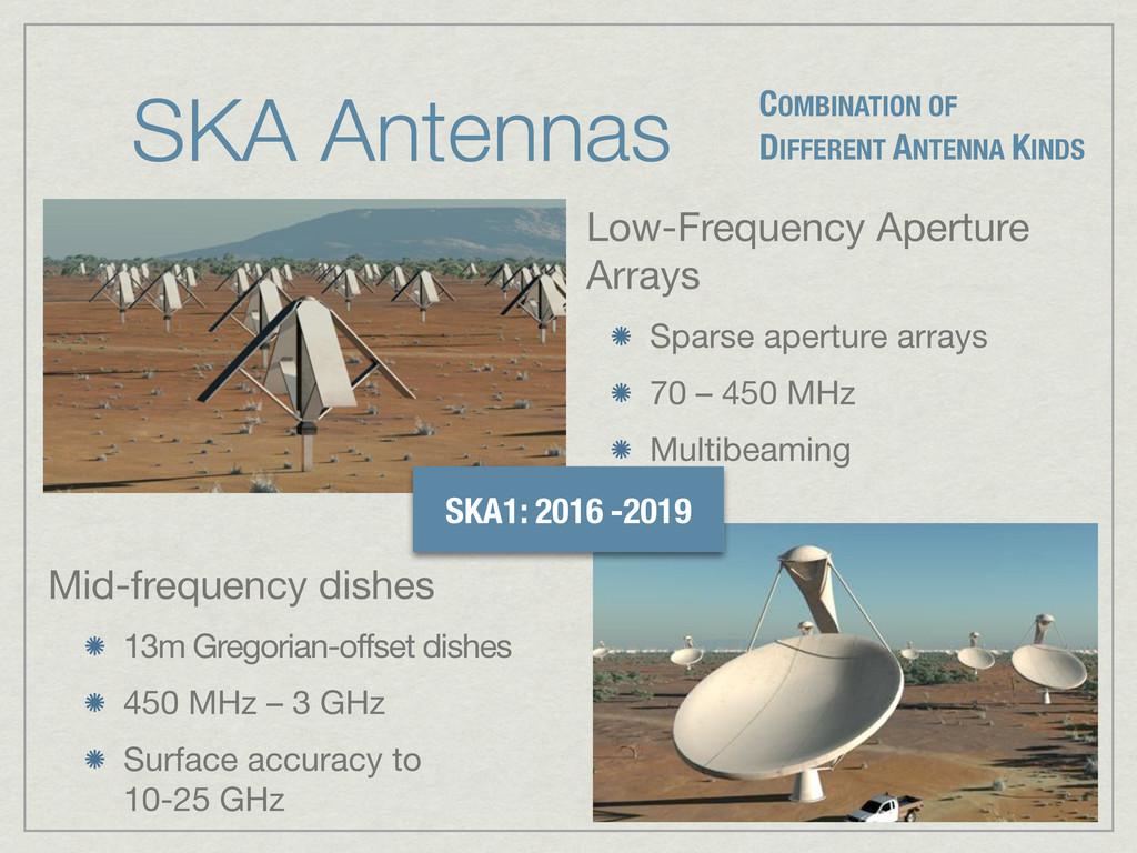 SKA Antennas COMBINATION OF DIFFERENT ANTENNA K...