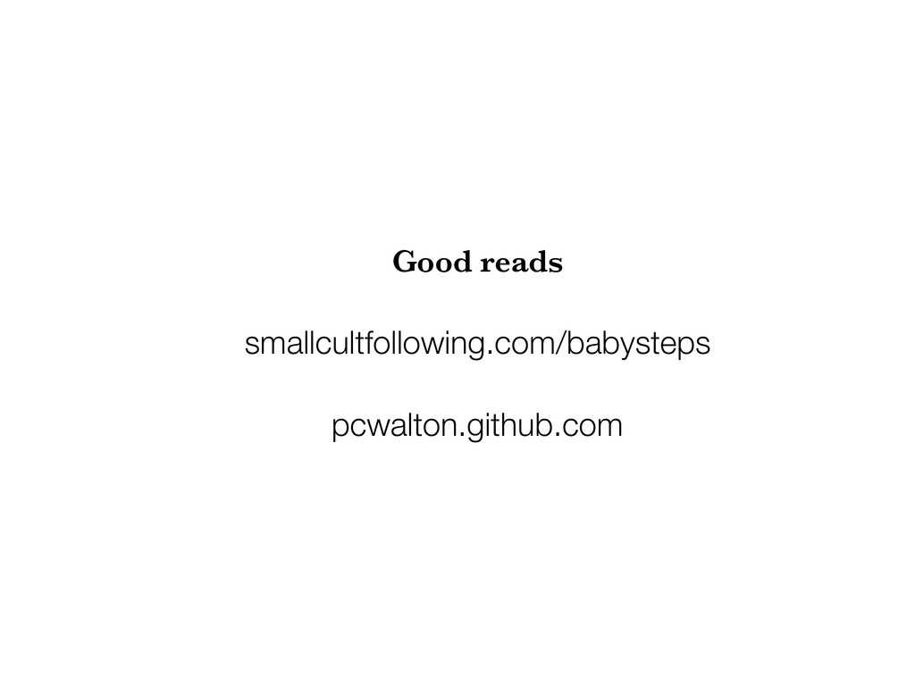 Good reads smallcultfollowing.com/babysteps pcw...