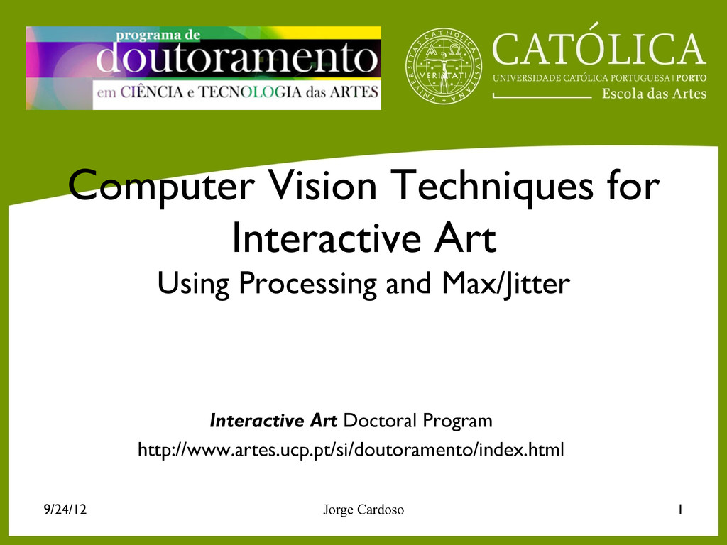 Computer Vision Techniques for Interactive Art ...