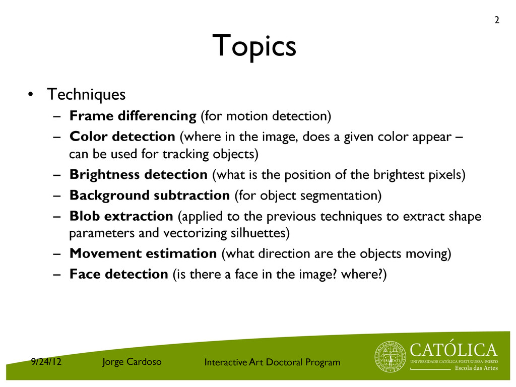 Interactive Art Doctoral Program Topics • Tech...