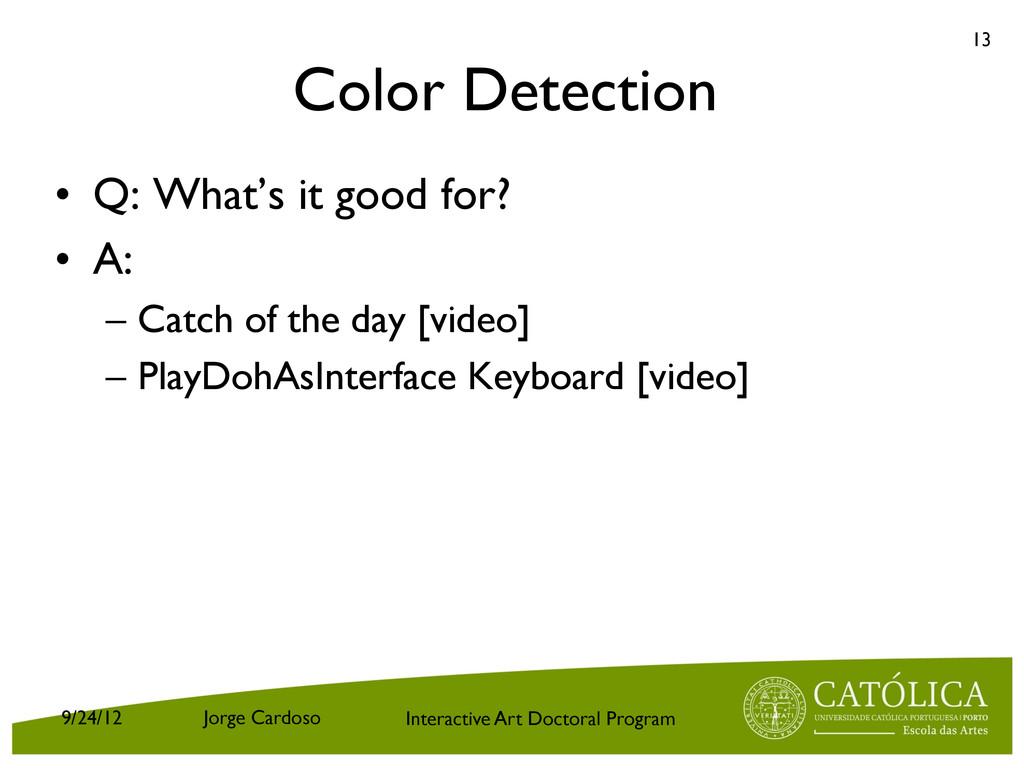 Interactive Art Doctoral Program Color Detectio...