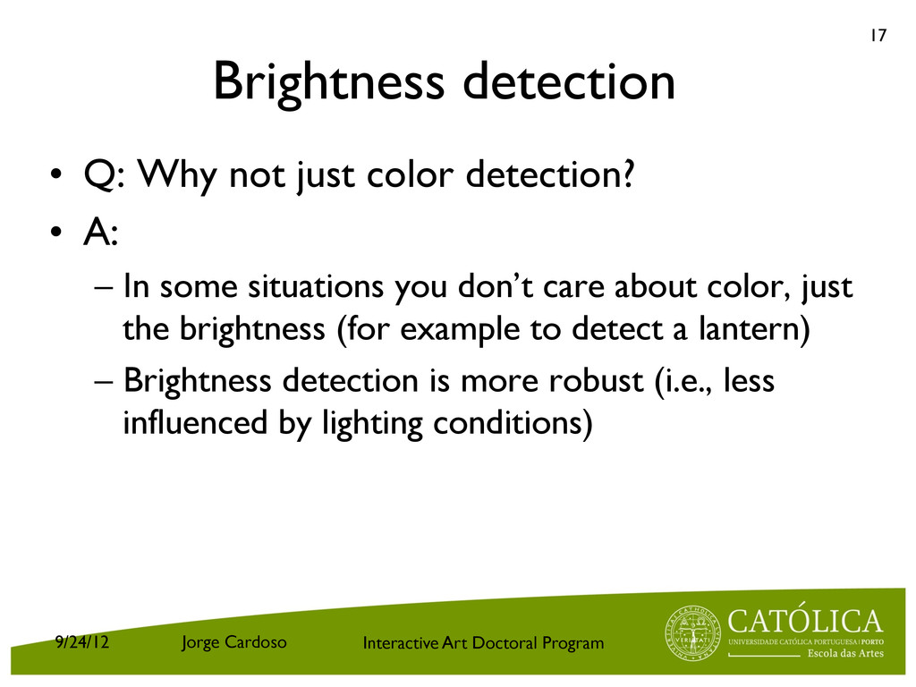 Interactive Art Doctoral Program Brightness det...