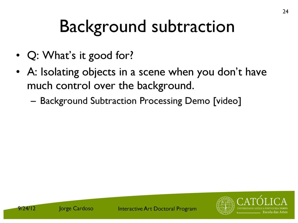 Interactive Art Doctoral Program Background sub...