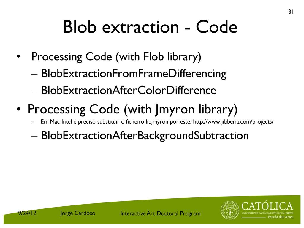 Interactive Art Doctoral Program Blob extractio...
